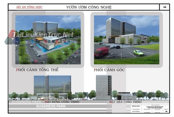 Đồ án tổng hợp quy hoạch khu công nghệ cao dương xá B- Thiết kế vườn ươm công nghệ