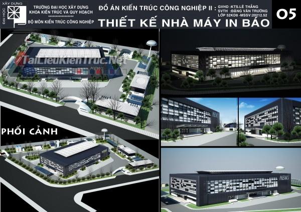Đồ án kiến trúc công nghiệp thiết kế nhà máy in báo MS153