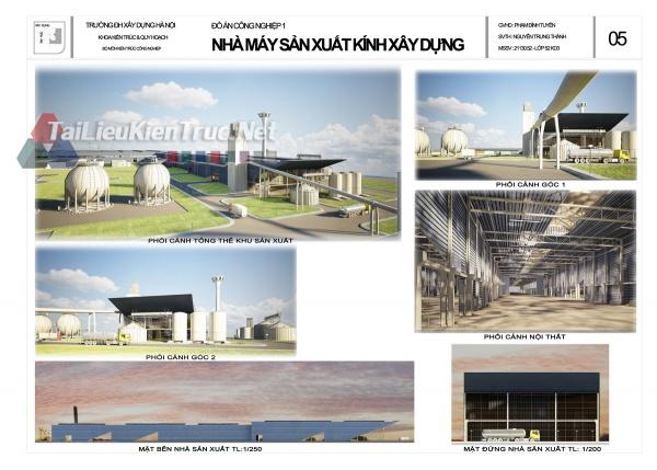 Đồ án công nghiệp nhà máy sản xuất kính xây dựng MS156
