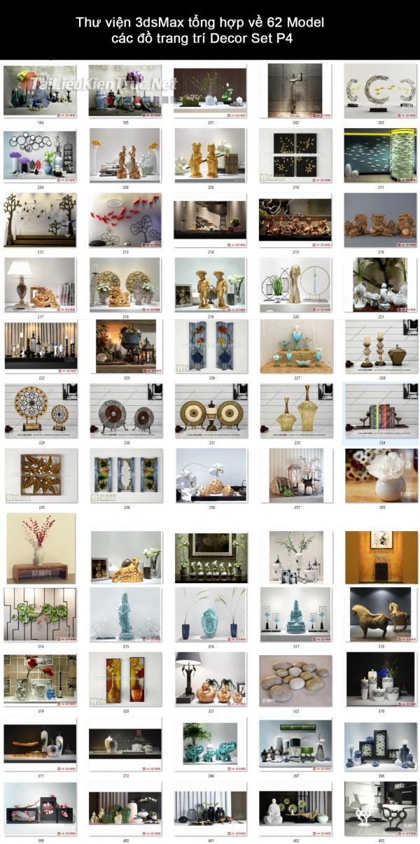 Thư viện 3dsMax tổng hợp về 62 Model các đồ trang trí decor set P4