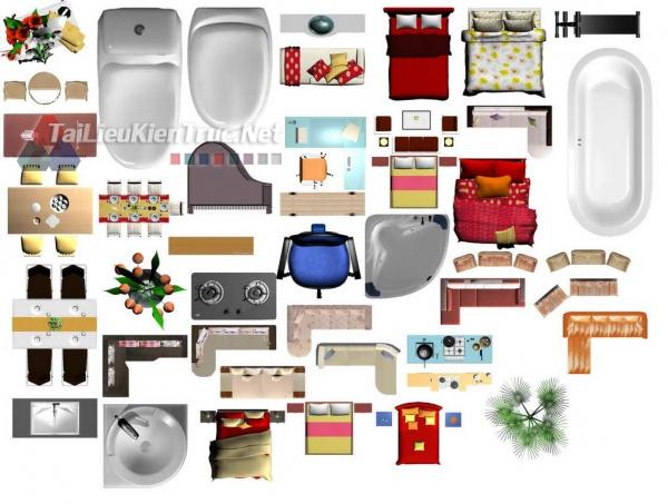 Thư viện mặt bằng Photoshop tổng hợp về Các loại đồ đạc trong nhà 030 dowload