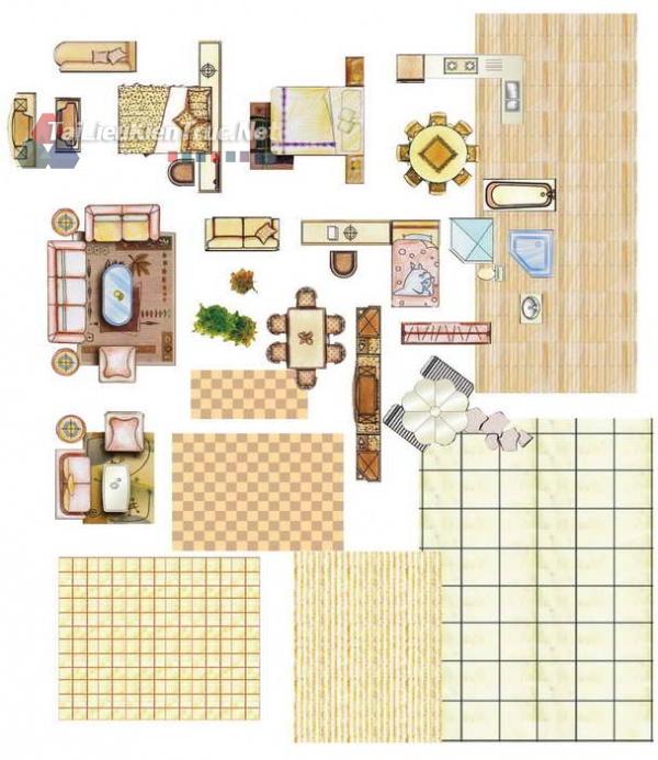 Thư viện mặt bằng Photoshop tổng hợp về Các loại đồ đạc trong nhà 032 download