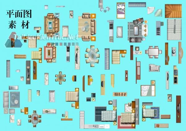 Thư viện mặt bằng Photoshop tổng hợp về Các loại đồ đạc trong nhà 034 download