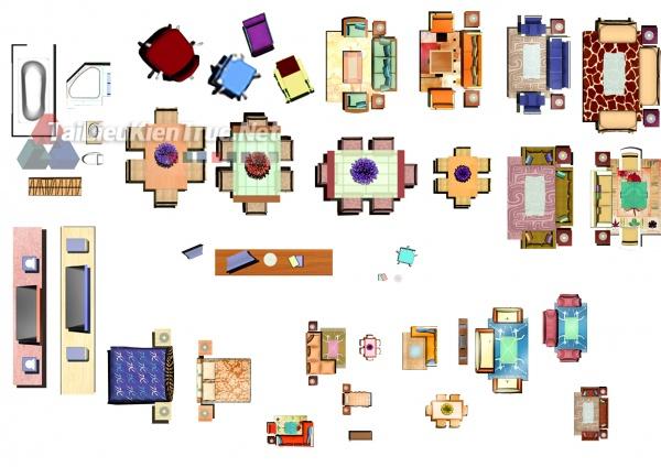 Thư viện mặt bằng Photoshop tổng hợp về Các loại đồ đạc trong nhà 038 download
