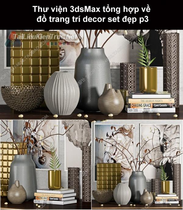 Thư viện 3dsMax tổng hợp về đồ trang trí decor set đẹp p3