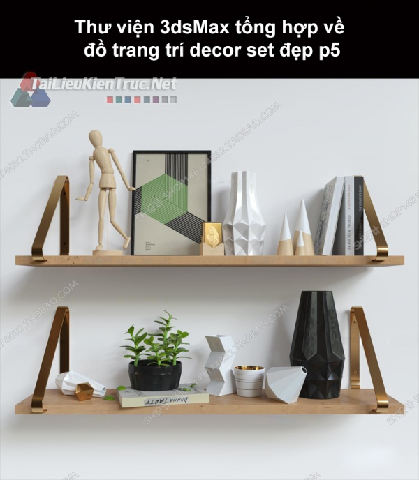 Thư viện 3dsMax tổng hợp về đồ trang trí decor set đẹp p5