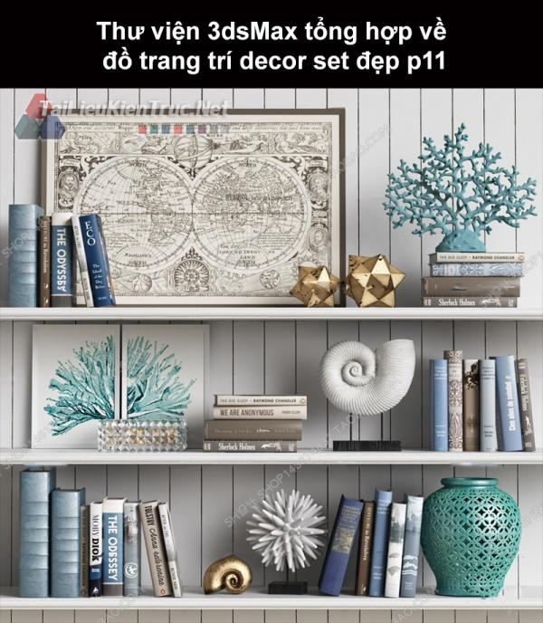 Thư viện 3dsMax tổng hợp về đồ trang trí decor set đẹp p11
