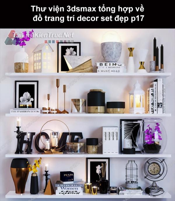 Thư viện 3dsMax tổng hợp về đồ trang trí decor set đẹp p17