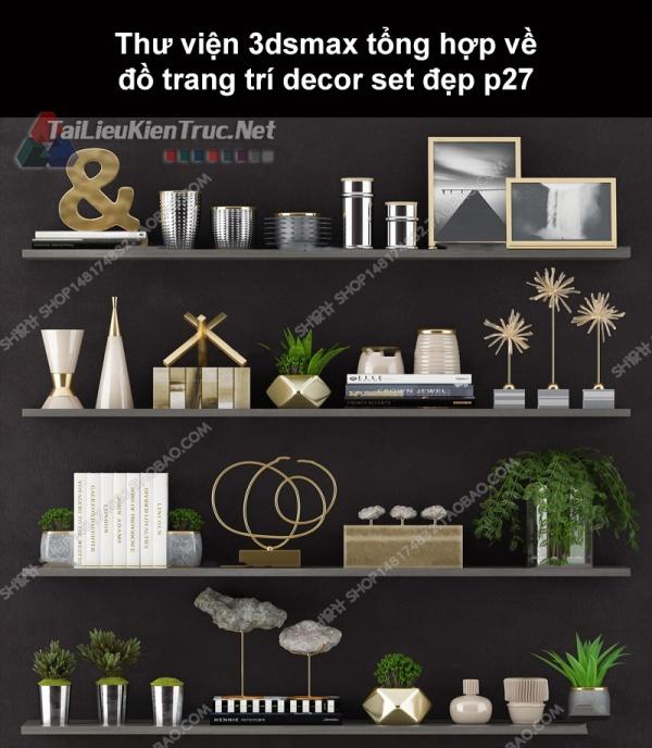 Thư viện 3dsMax tổng hợp về đồ trang trí decor set đẹp p27