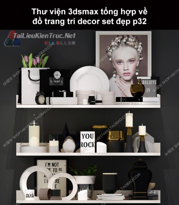 Thư viện 3dsMax tổng hợp về đồ trang trí decor set đẹp p32