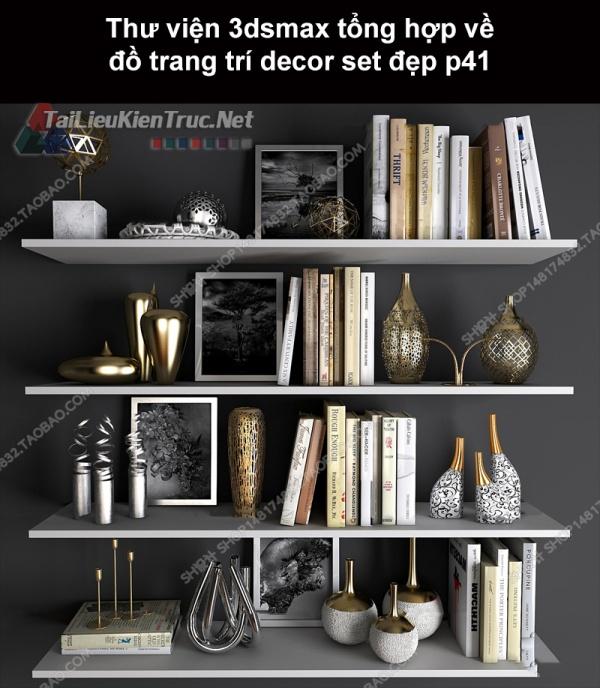 Thư viện 3dsMax tổng hợp về đồ trang trí decor set đẹp p41