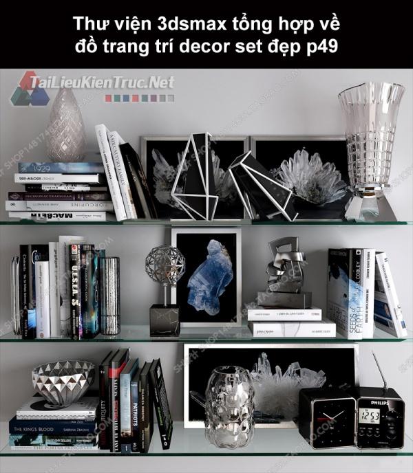 Thư viện 3dsMax tổng hợp về đồ trang trí decor set đẹp p49