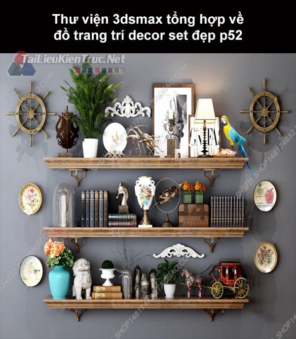 Thư viện 3dsMax tổng hợp về đồ trang trí decor set đẹp p52