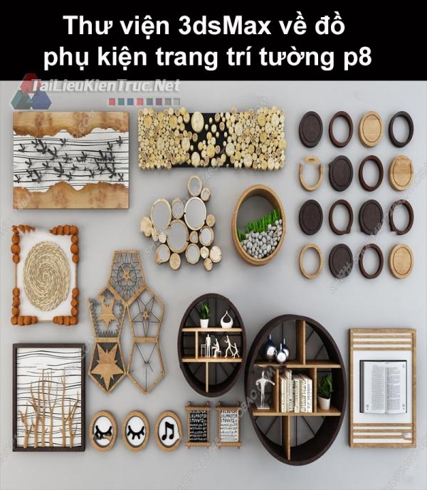 Thư viện 3dsMax về đồ phụ kiện trang trí tường p8