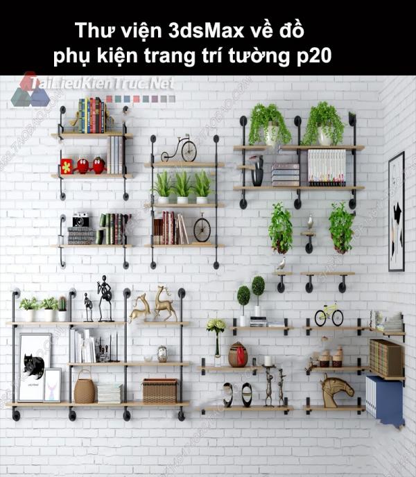 Thư viện 3dsMax về đồ phụ kiện trang trí tường p20