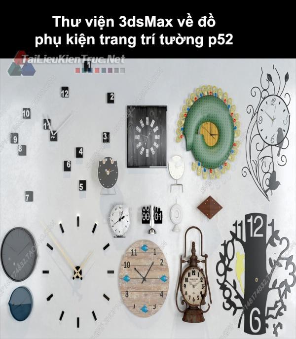Thư viện 3dsMax về đồ phụ kiện trang trí tường p52