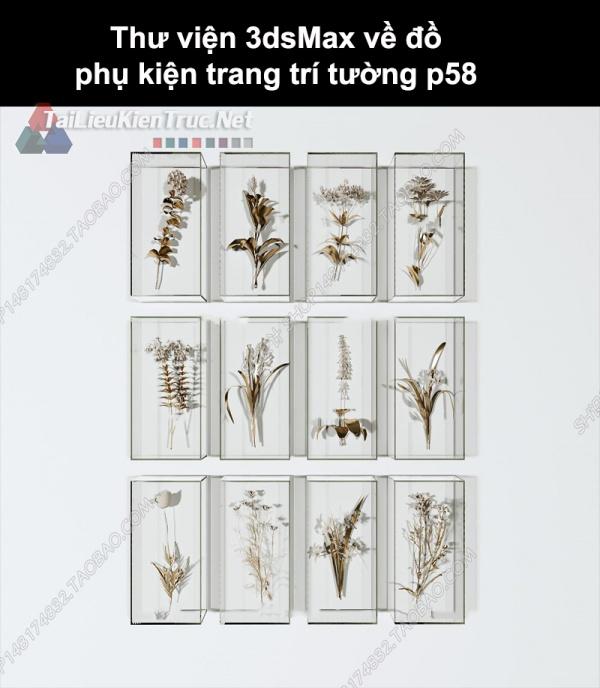 Thư viện 3dsMax về đồ phụ kiện trang trí tường p58