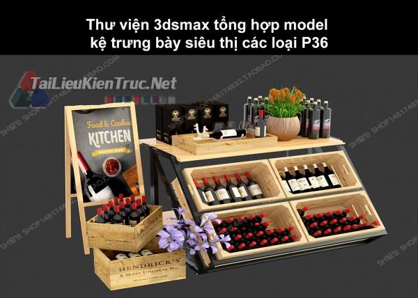 Thư viện 3dsmax tổng hợp Model kệ trưng bày siêu thị các loại P36
