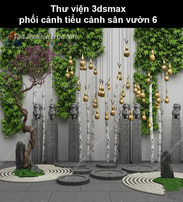 Thư viện 3dsmax phối cảnh, tiểu cảnh sân vườn 6