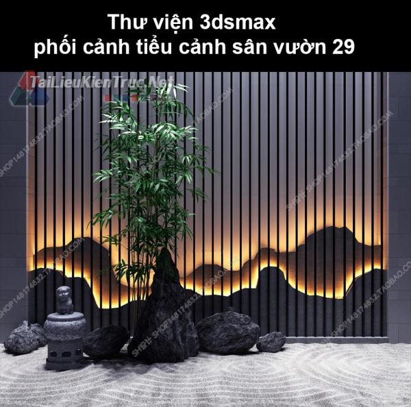 Thư viện 3dsmax phối cảnh, tiểu cảnh sân vườn 29
