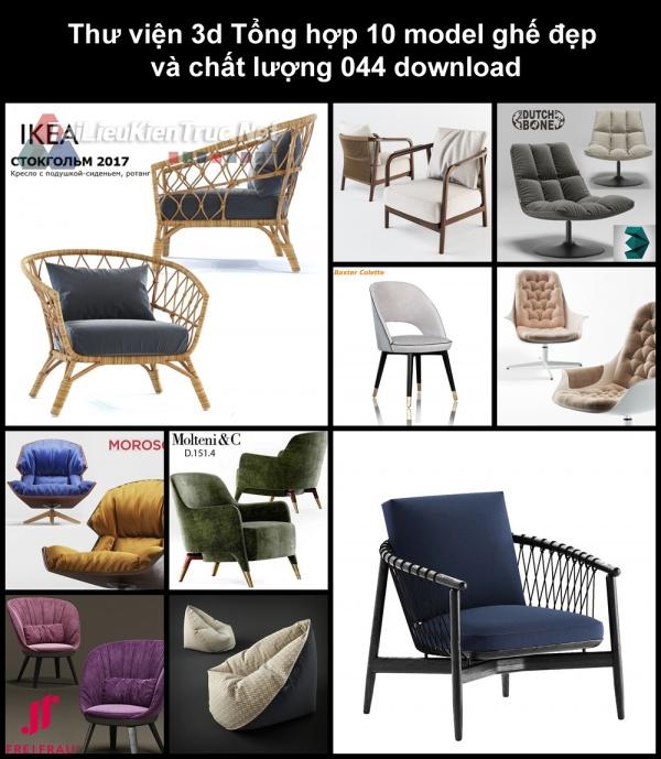 Thư viện 3d Tổng hợp 10 model ghế đẹp và chất lượng 044 download