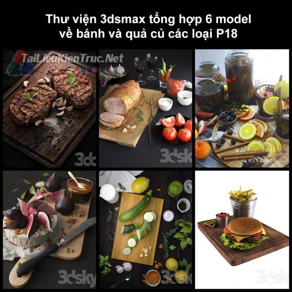 Thư viện 3dsmax tổng hợp 6 model về bánh và quả củ các loại P18