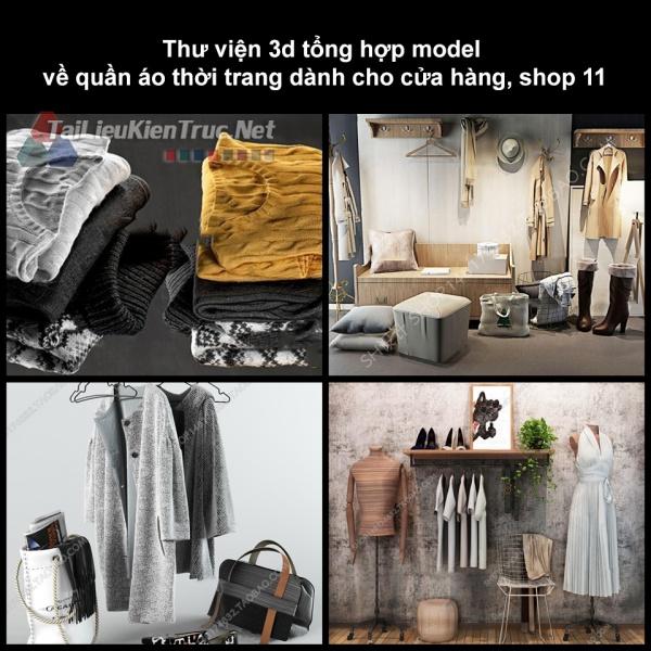 Thư viện 3D tổng hợp Model về quần áo thời trang dành cho cửa hàng, shop 11