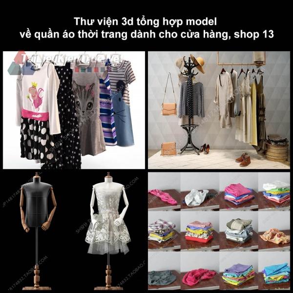 Thư viện 3D tổng hợp Model về quần áo thời trang dành cho cửa hàng, shop 13