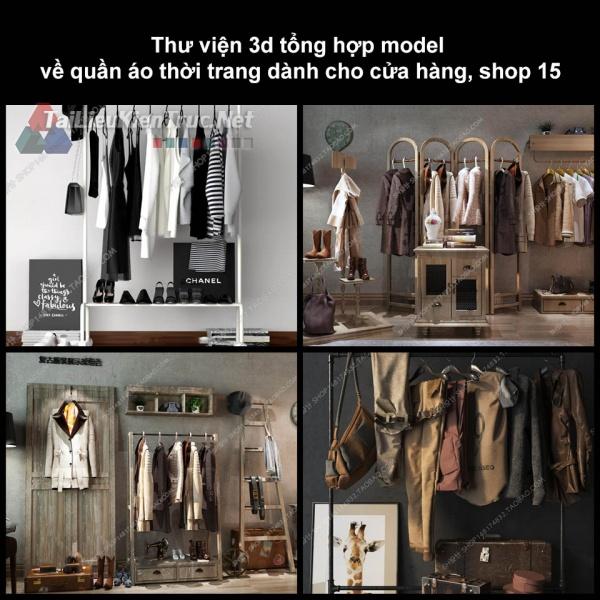 Thư viện 3D tổng hợp Model về quần áo thời trang dành cho cửa hàng, shop 15