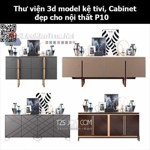 Thư viện 3d model Kệ tivi, Cabinet đẹp cho nội thất P10