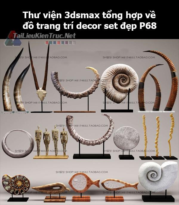 Thư viện 3dsMax tổng hợp về đồ trang trí decor set đẹp p68