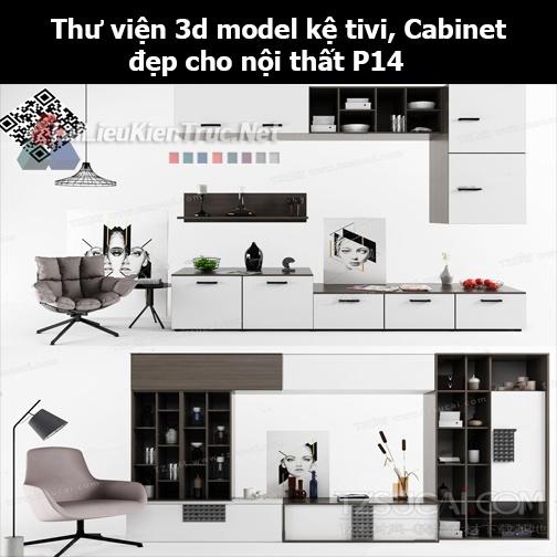 Thư viện 3d model Kệ tivi, Cabinet đẹp cho nội thất P14