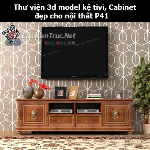 Thư viện 3d model Kệ tivi, Cabinet đẹp cho nội thất P41