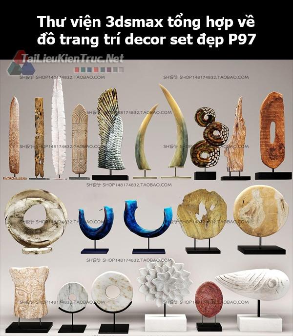 Thư viện 3dsMax tổng hợp về đồ trang trí decor set đẹp p97