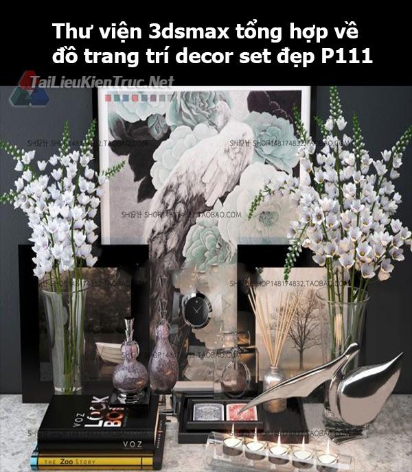 Thư viện 3dsMax tổng hợp về đồ trang trí decor set đẹp p111
