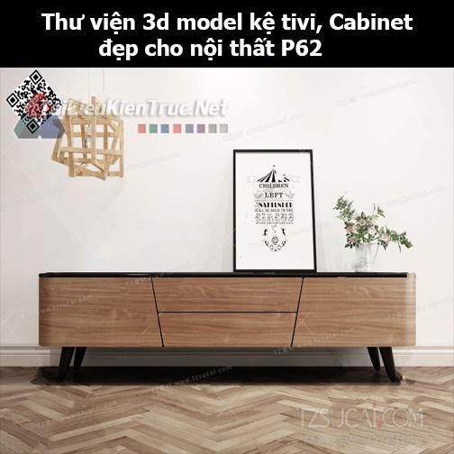 Thư viện 3d model Kệ tivi, Cabinet đẹp cho nội thất P62
