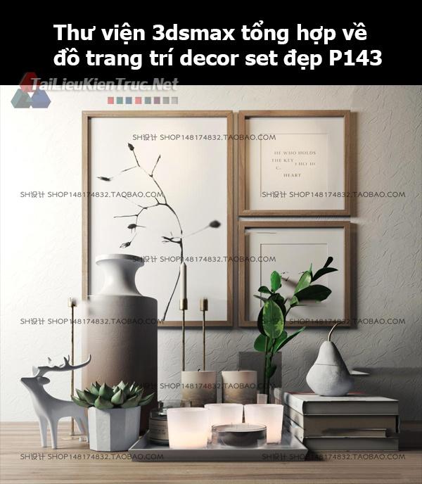 Thư viện 3dsMax tổng hợp về đồ trang trí decor set đẹp p143