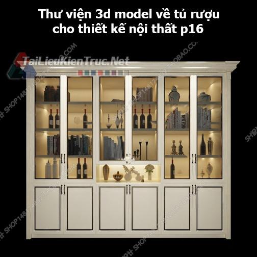 Thư viện 3d model về tủ rượu cho thiết kế nội thất p16