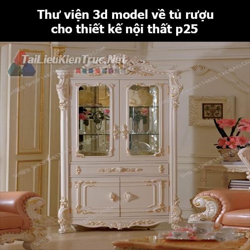 Thư viện 3d model về tủ rượu cho thiết kế nội thất p25