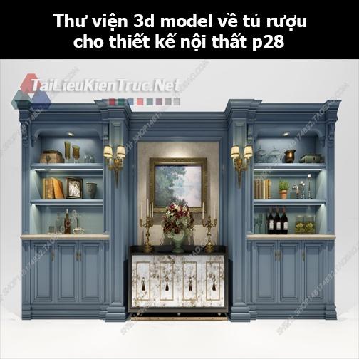 Thư viện 3d model về tủ rượu cho thiết kế nội thất p28