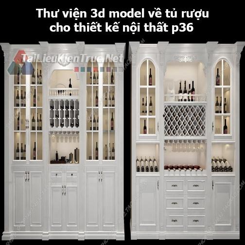 Thư viện 3d model về tủ rượu cho thiết kế nội thất p36
