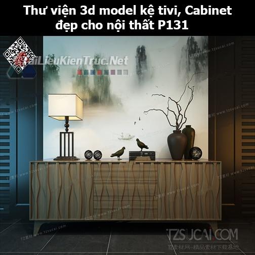 Thư viện 3d model Kệ tivi, Cabinet đẹp cho nội thất P131