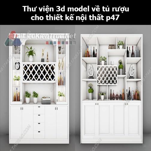 Thư viện 3d model về tủ rượu cho thiết kế nội thất p47