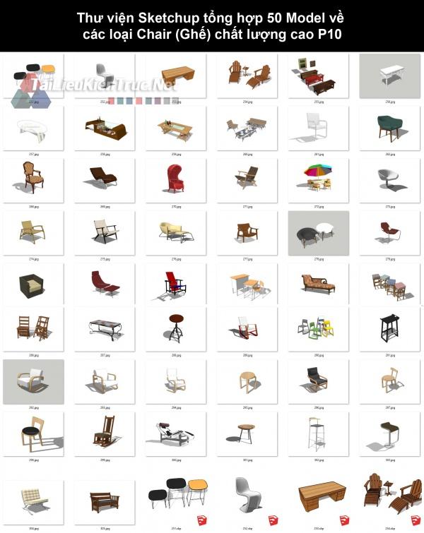 Thư viện Sketchup tổng hợp 50 Model về các loại Chair (Ghế) chất lượng cao P10