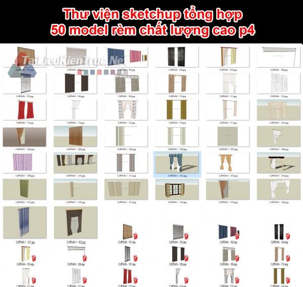 Thư viện sketchup tổng hợp 50 model rèm chất lượng cao p4