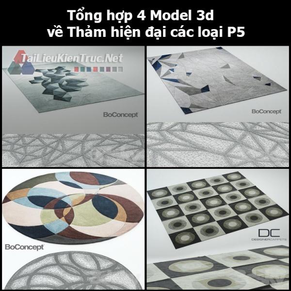 Tổng hợp 04 Model 3d về Thảm hiện đại các loại p5