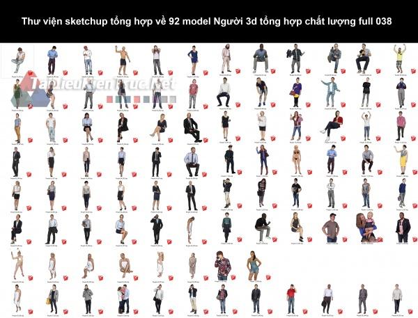 Thư viện sketchup tổng hợp về 92 model Người 3d tổng hợp chất lượng full 038