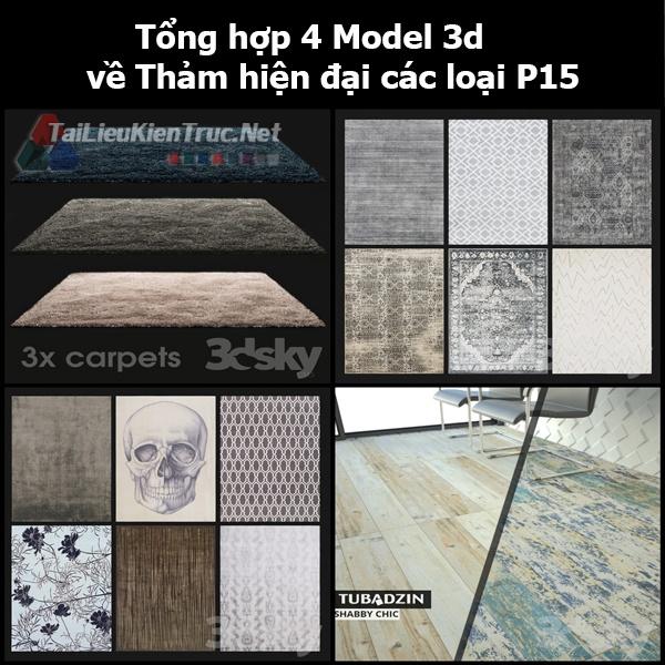 Tổng hợp 04 Model 3d về Thảm hiện đại các loại p15