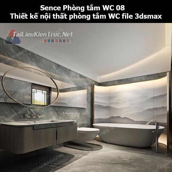 Sence Phòng tắm WC 08 - Thiết kế nội thất phòng tắm + Wc file 3dsmax