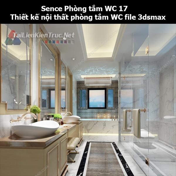 Sence Phòng tắm WC 17 - Thiết kế nội thất phòng tắm + Wc file 3dsmax